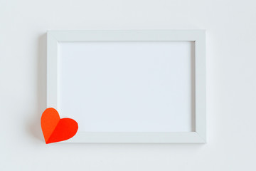 Valentine's Day card decorated with hearts