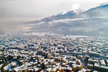 Valtellina (IT) - Sondrio - Vista aerea