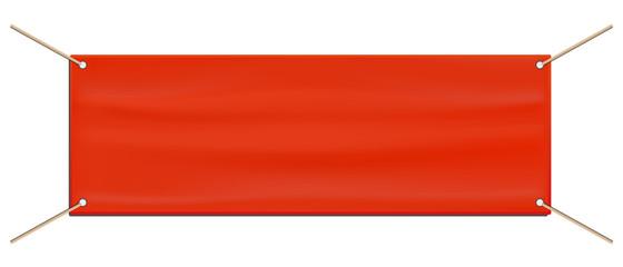 Tarpaulin Advertising Banner - Orange Editable Vector Illustration - Isolated On White Background