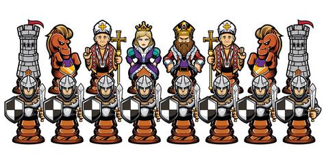 Chess Cartoon Figures