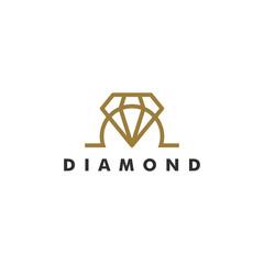 Diamond Logo Template, Jewelry design icon vector