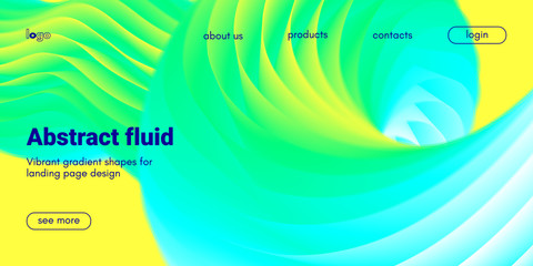 Abstract 3d Background with Fluid Shape.