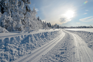 Skislopes, winter in Norway