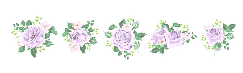 Wedding Card Design with Watercolor Flowers.