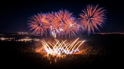 Vingis Park Fireworks in Vilnius Wall mural