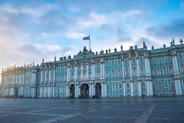 winter palace in the city of St. Petersburg.