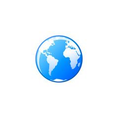 earth vector icon. flat design