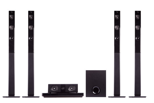 Home cinema audio surround system