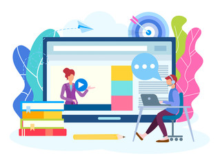 Online lesson, webinar, seminar, courses on the Internet.