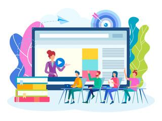Online webinar, Colloquium, team work concept.