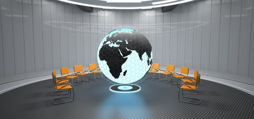 Globe Futuristic Training Room