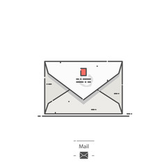 Mail - Line color icon