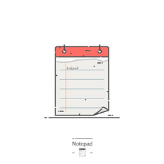 Notepad - Line color icon