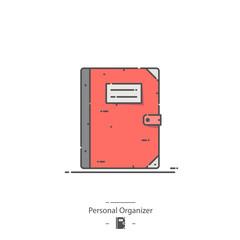Personal organizer - Line color icon