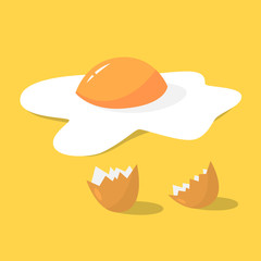 Tasty fried egg for breakfast. Delicious food