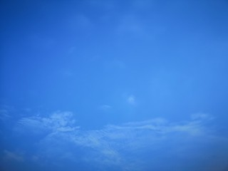 White clouds in the blue sky Cloudy natural background space for write beautiful nature