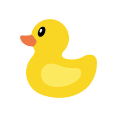 Yellow duck icon. isolated on white background