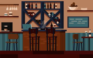 Wine bar interior