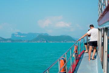 traveller on boat