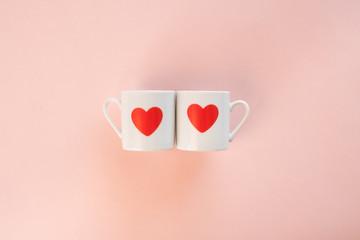 ハート コップ カップ カップル イメージ バレンタイン
