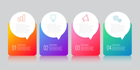 infographics design with speech bubble flat vector
