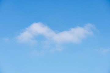 The sky is full of moving clouds. Feel free and enthusiastic. Suitable to use as a background image.