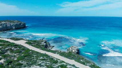 Printed kitchen splashbacks Zanzibar Beautiful aerial view of bay with crystal clear ocean