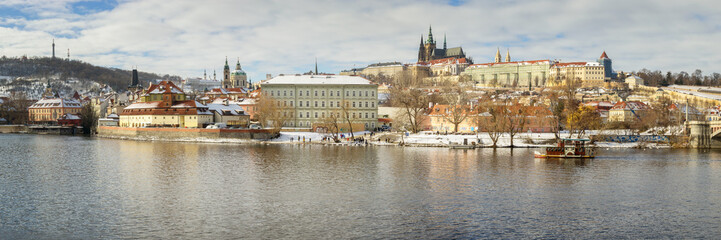 Panoramic View of Prague in Winter