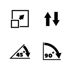 Rotate Arrow, Turn. Simple Related Vector Icons