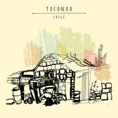Toconao Chile postcard