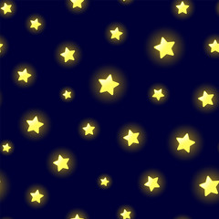 Glowing stars pattern