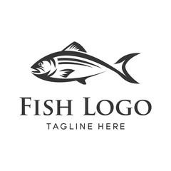 Fishing vector design logo template. - fish logo Vector