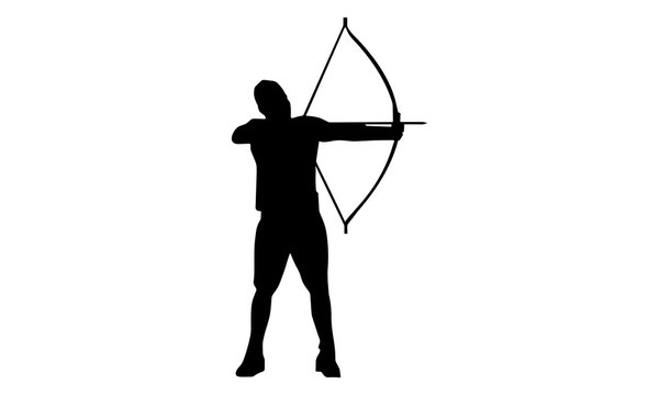 picture of a male archer silhouette.
