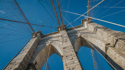 Famous Brooklyn Bridge in New York