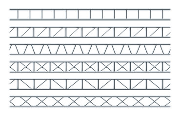 Steel Truss Girder Realistic Seamless Pattern For The Design Of Outdoor Advertising And Road Signs.