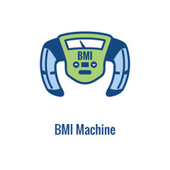 BMI / Body Mass Index Icon - image portraying weight balance