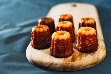 Canele is a small French pastry with rum and vanilla