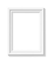 White picture frame. Portrait orientation