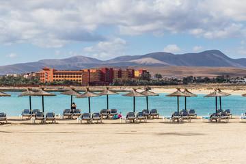 people on holiday in caleta de fuste, Fuerteventura,