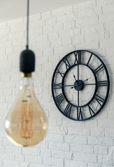 Vintage clock with Roman numeral