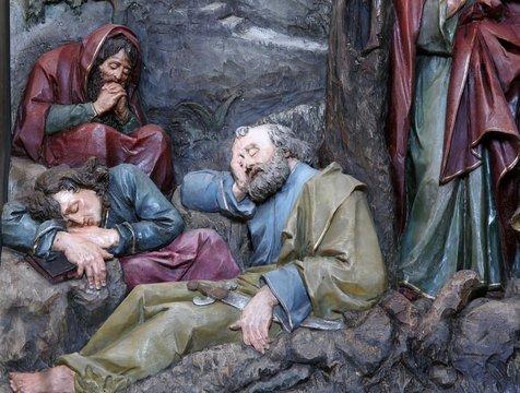 Sleeping Disciples, altarpiece in church of Saint Matthew in Stitar, Croatia
