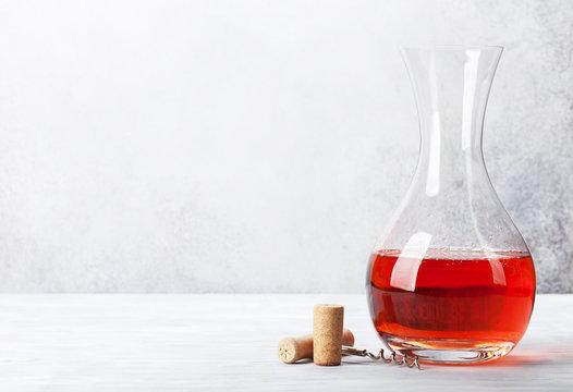 Rose wine in decanter