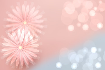 Abstract pink spring or summer flower background. Abstract flower background with beautiful pink flowers and space for design. Greeting card concept.