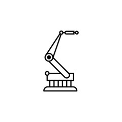 robot, crane outline icon. Signs and symbols can be used for web, logo, mobile app, UI, UX