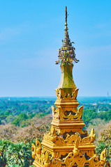 The view from the top of Mahazedi Paya, Bago, Myanmar