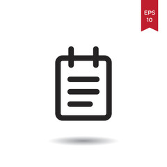 Notebook vector icon