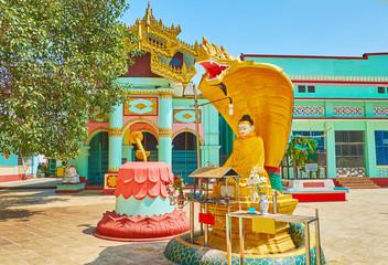 Naga-Raja Buddha Image, Shwemawdaw Paya, Bago, Myanmar