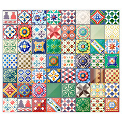 Beautiful colorful background azulejo tiles