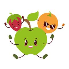 kawaii lemon cartoon character
