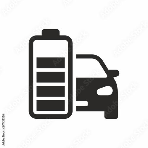 Electric Car Battery Icon Stockfotos Und Lizenzfreie Vektoren Auf